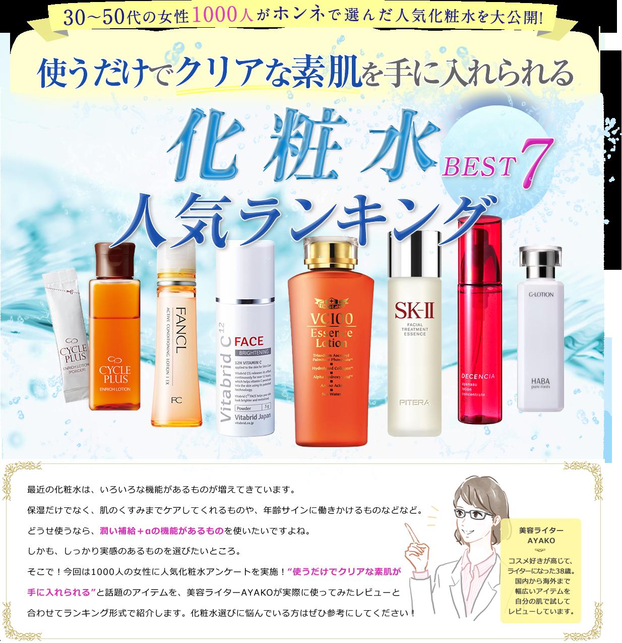 化粧水人気50代